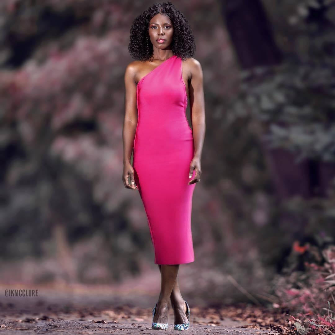 Pink One-Shoulder Glam Dress