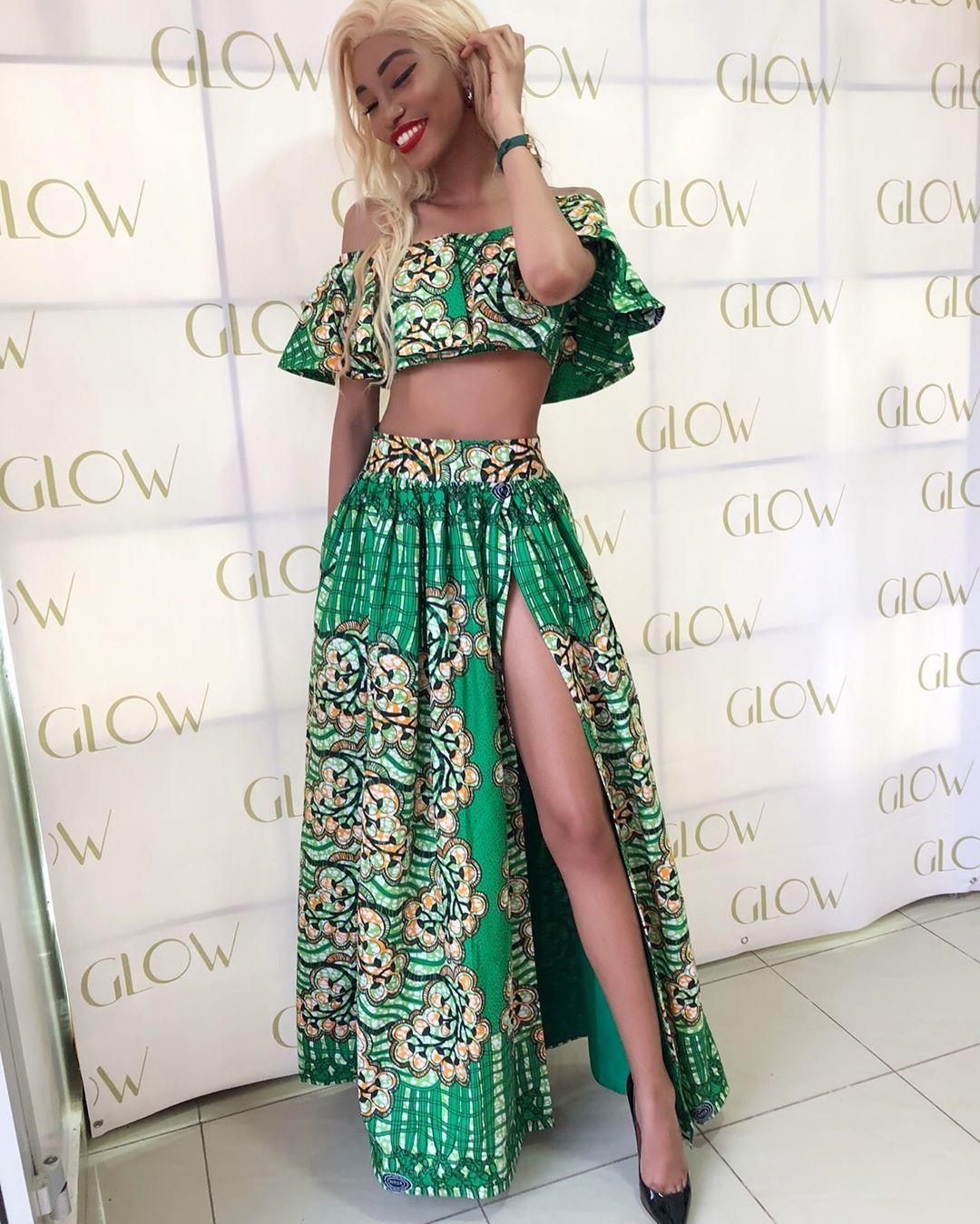 Valarie Ayena Rocks Classic Long Ankara Skirt