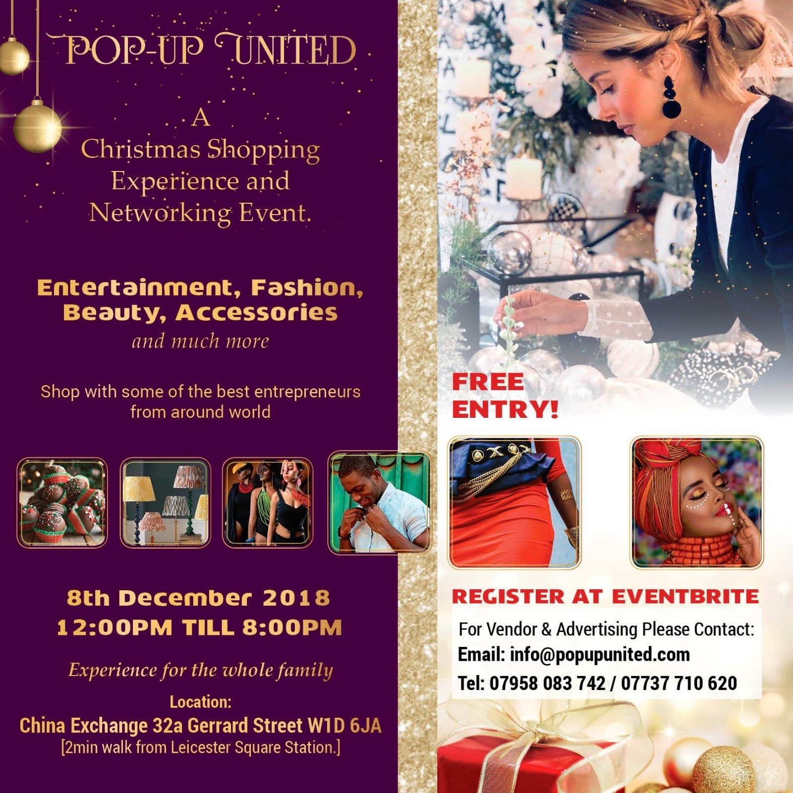 Pop-Up United London Christmas Shopping Event