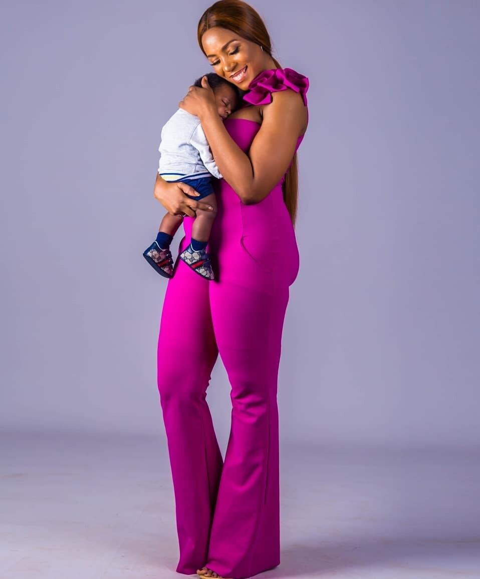 Linda Ikeji and Sholaye Jeremi son Jayce