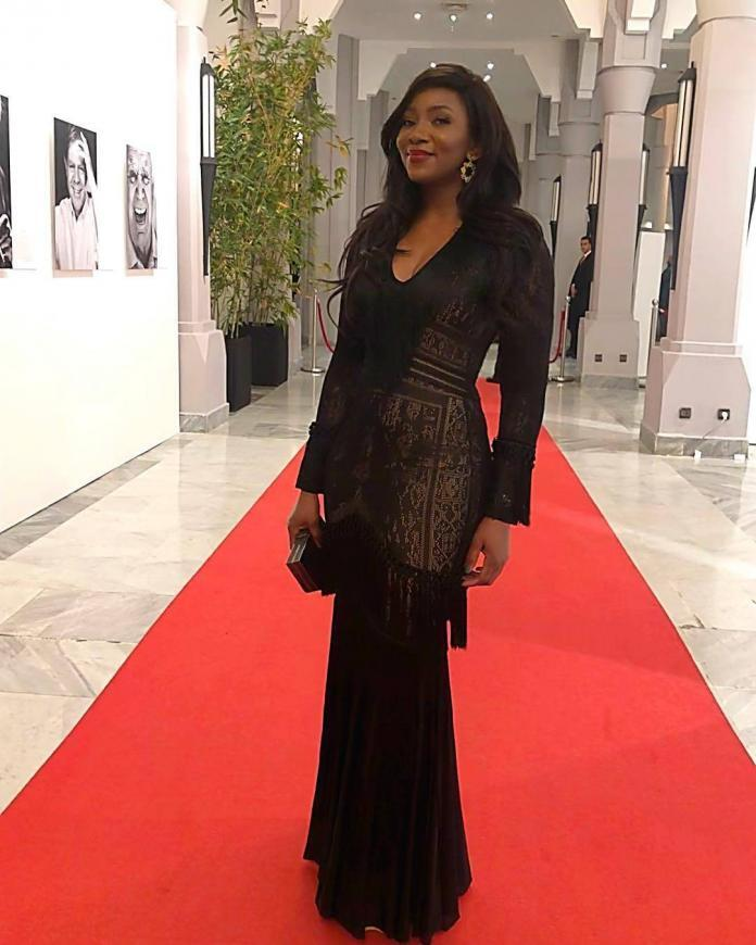 Genevieve Nnaji ROCKS £3,200 Zuhair Murad gown