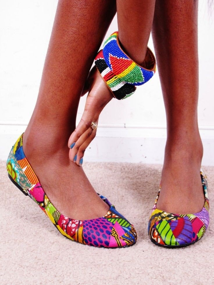 African Print Flat Shoes For Women