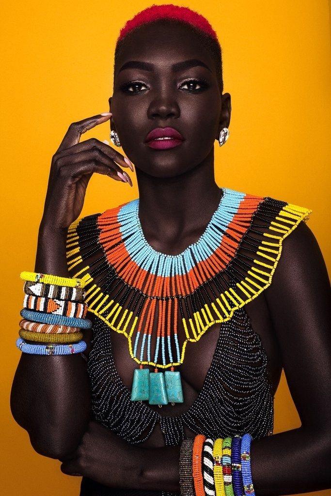 KENYA Maasai Black GLASS Trade BEADs