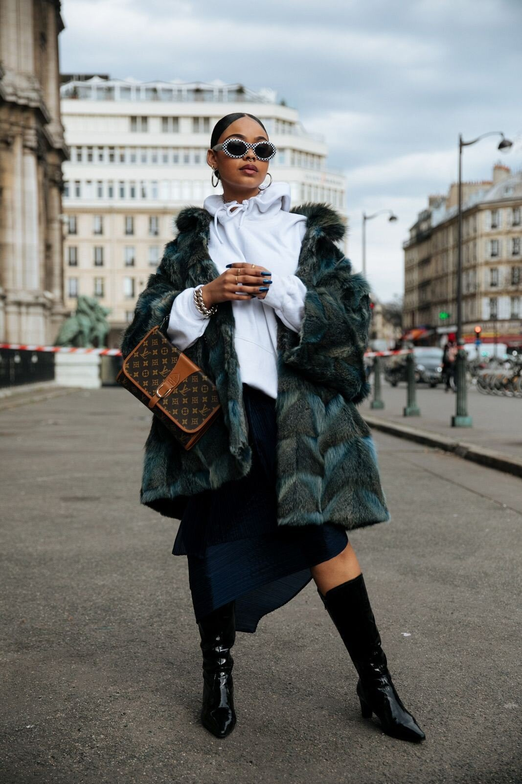 Colourful winter style coats, outfit ideas