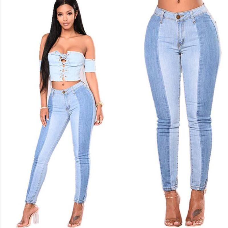 Colorblock Jeans