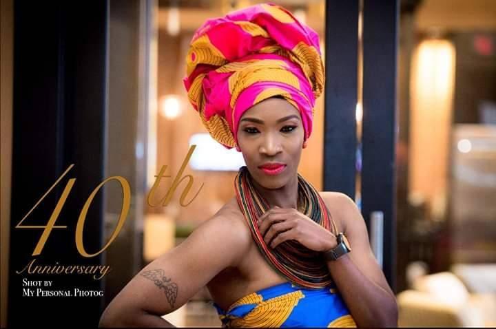 40th Birthday African Print Head Scarf Inspiration