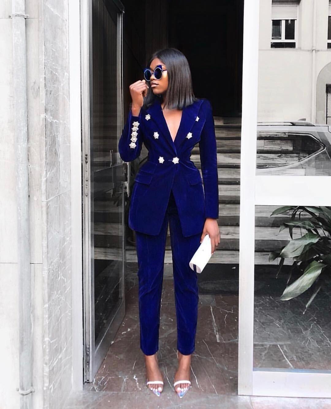 Velvet Pant Suits For Women