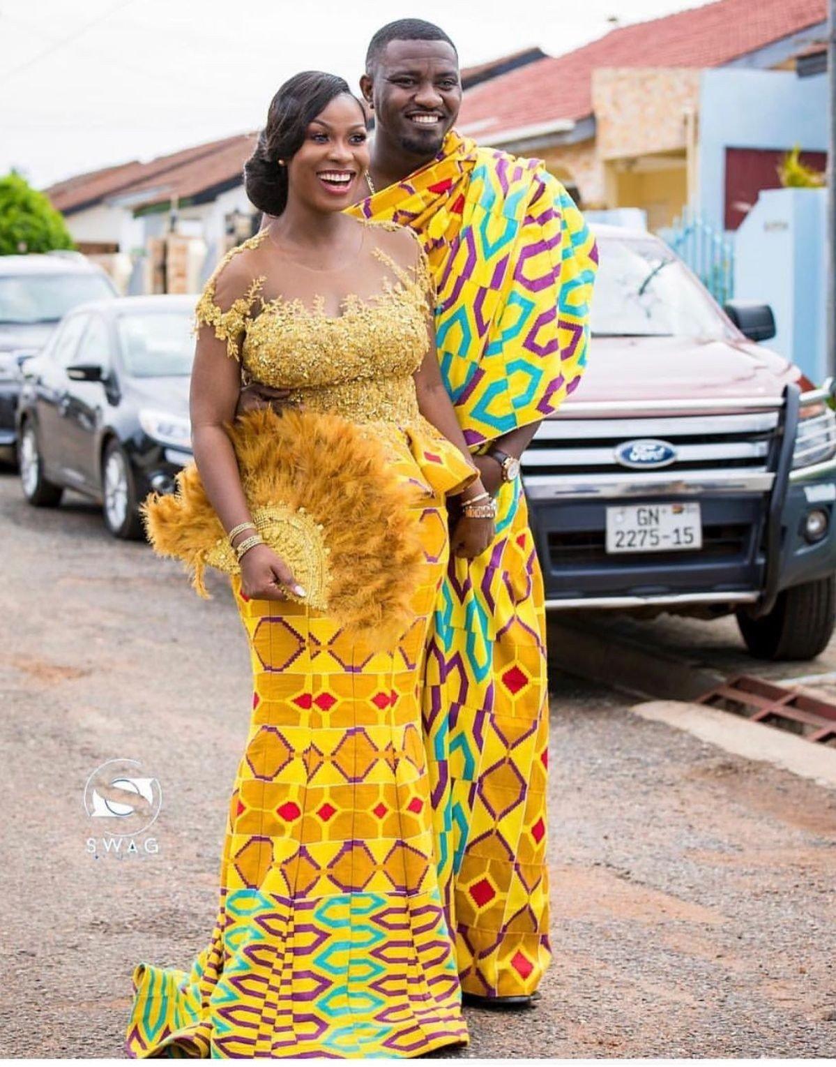 Latest Ghanaian Kente Bridal Styles