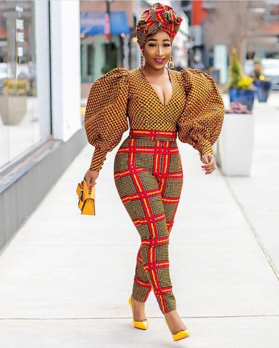 Chic Ama is African Print Trouser and top