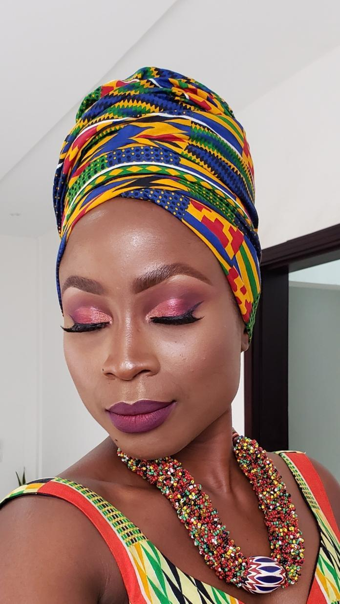 Glam Spring makeup look