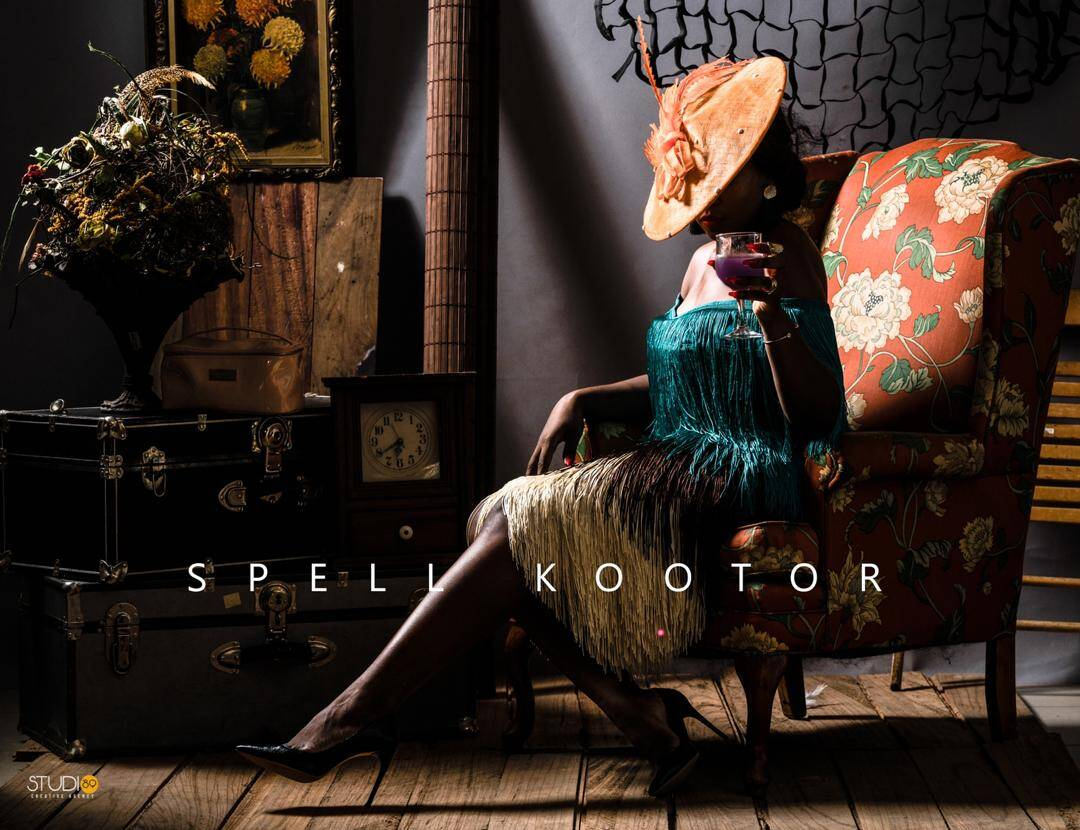 Embellished Midi Dress with Tassel