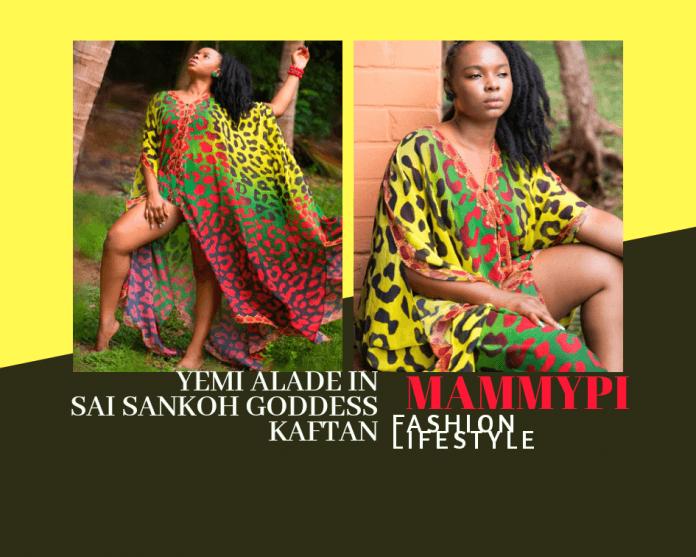 Yemi Alade Styles Sai Sankoh Goddess Kaftan