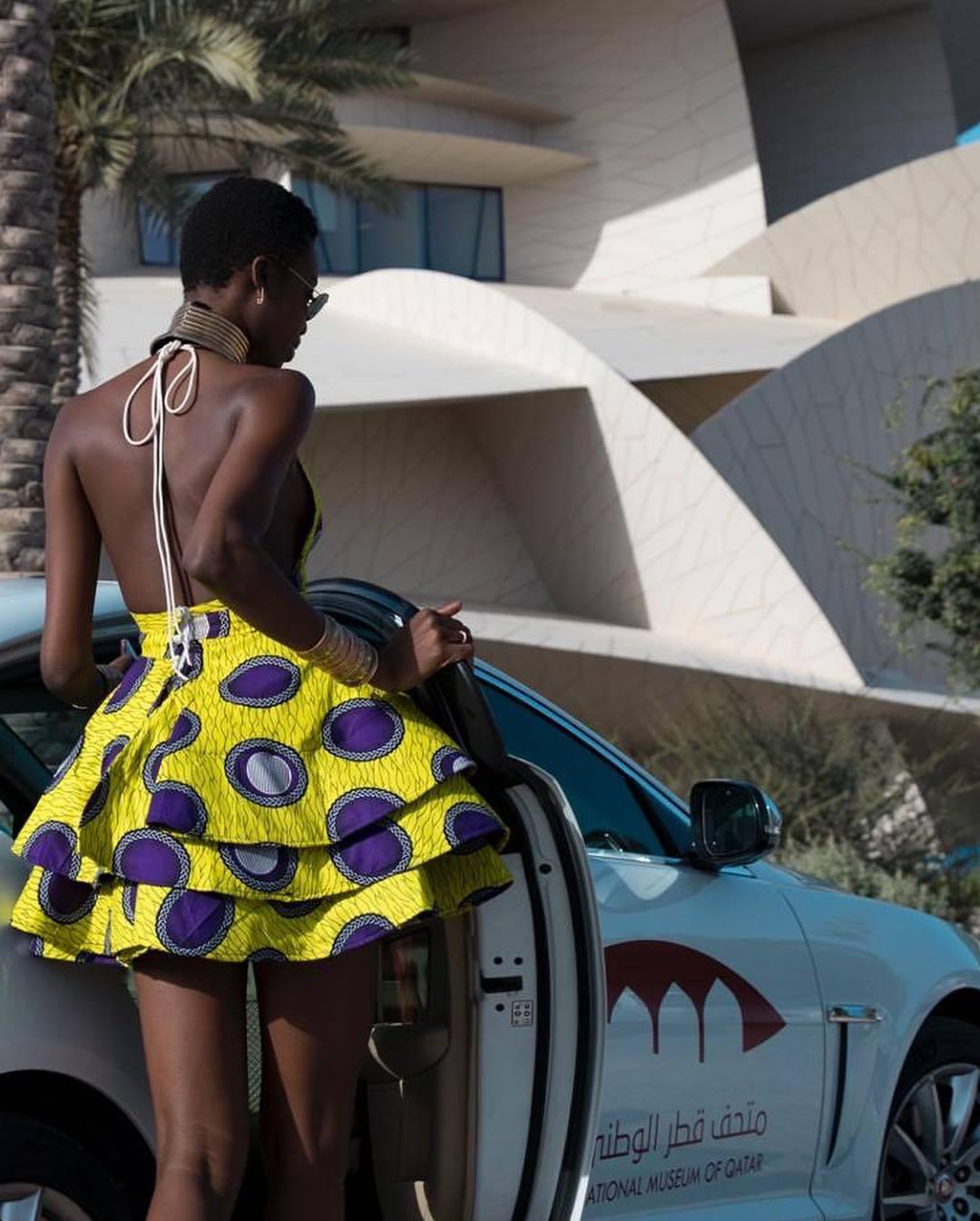 Angolan Model Maria Borges in Lavie By CK Ankara Print Summer Dress