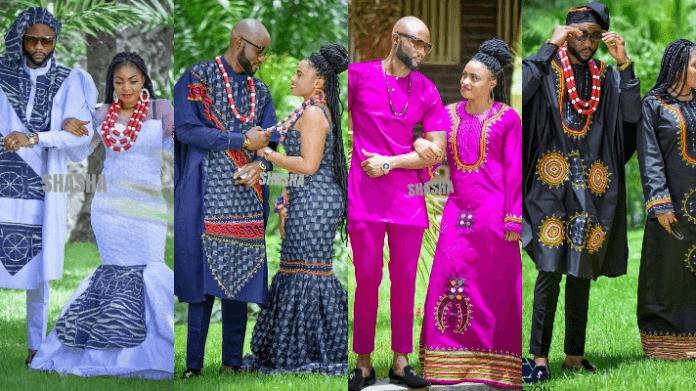 Bamenda Toghu Print Traditional Wedding Outfits