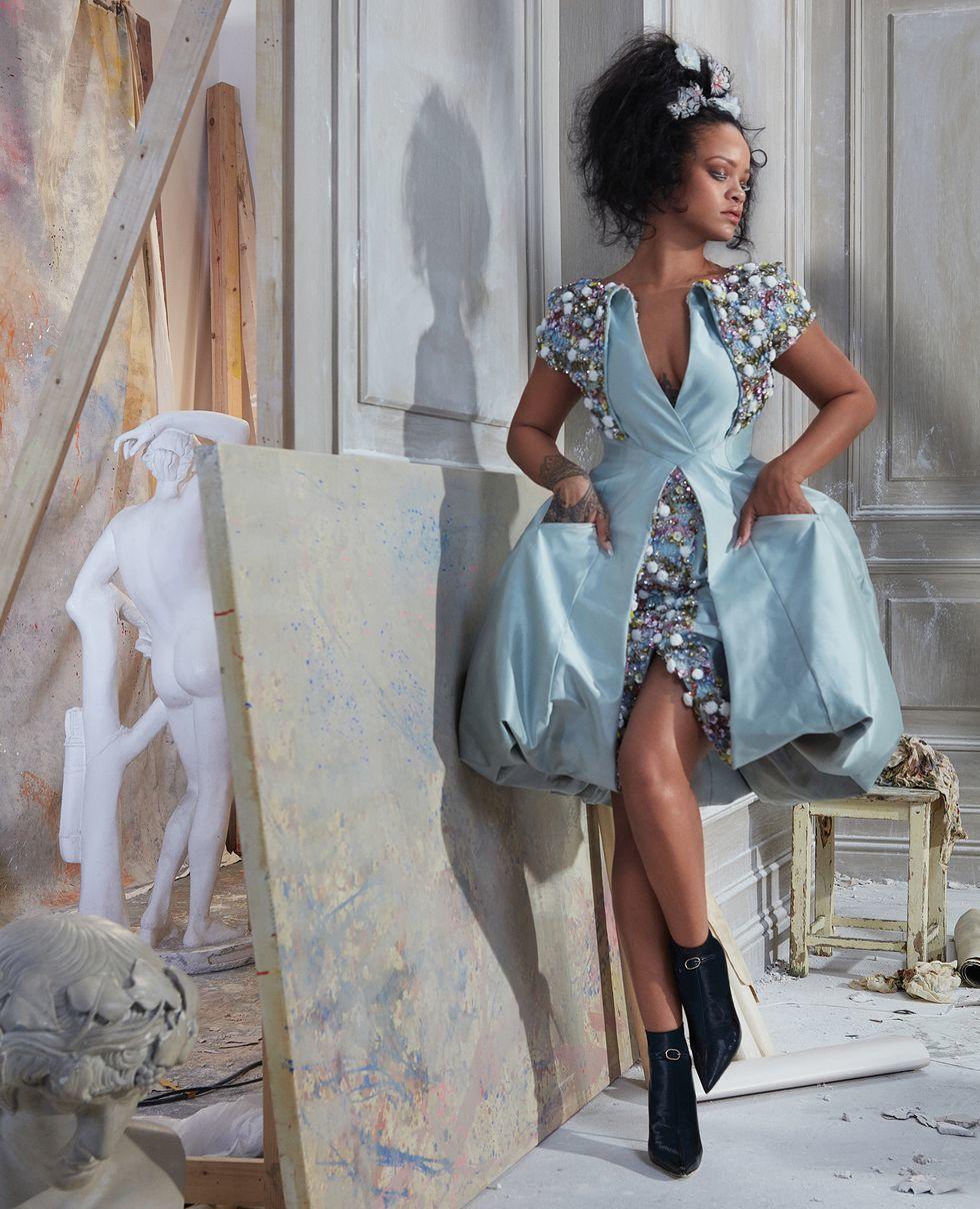 Rihanna Covers Harpers-Bazaar-US