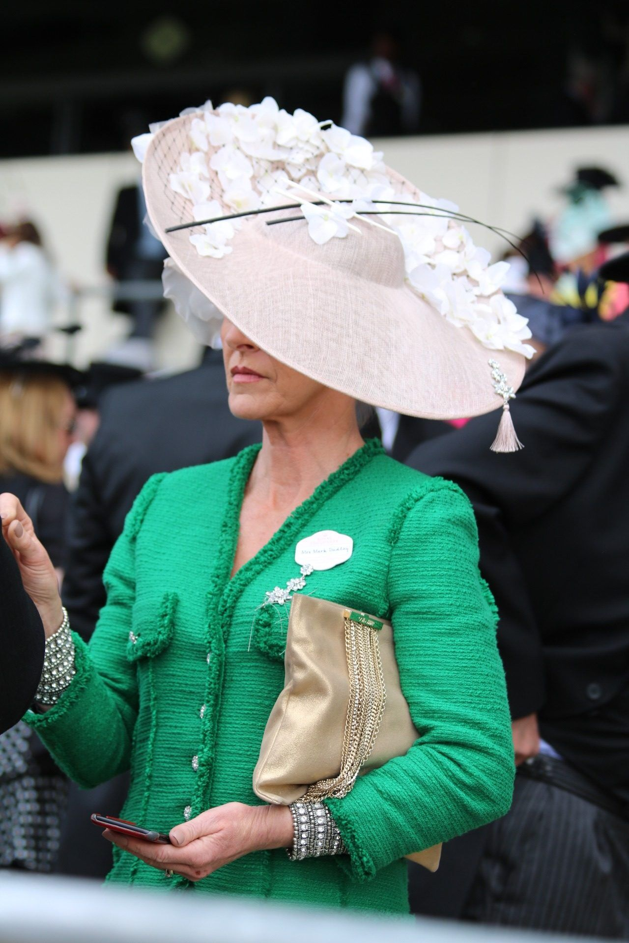 Big Hats and fascinators ladies day