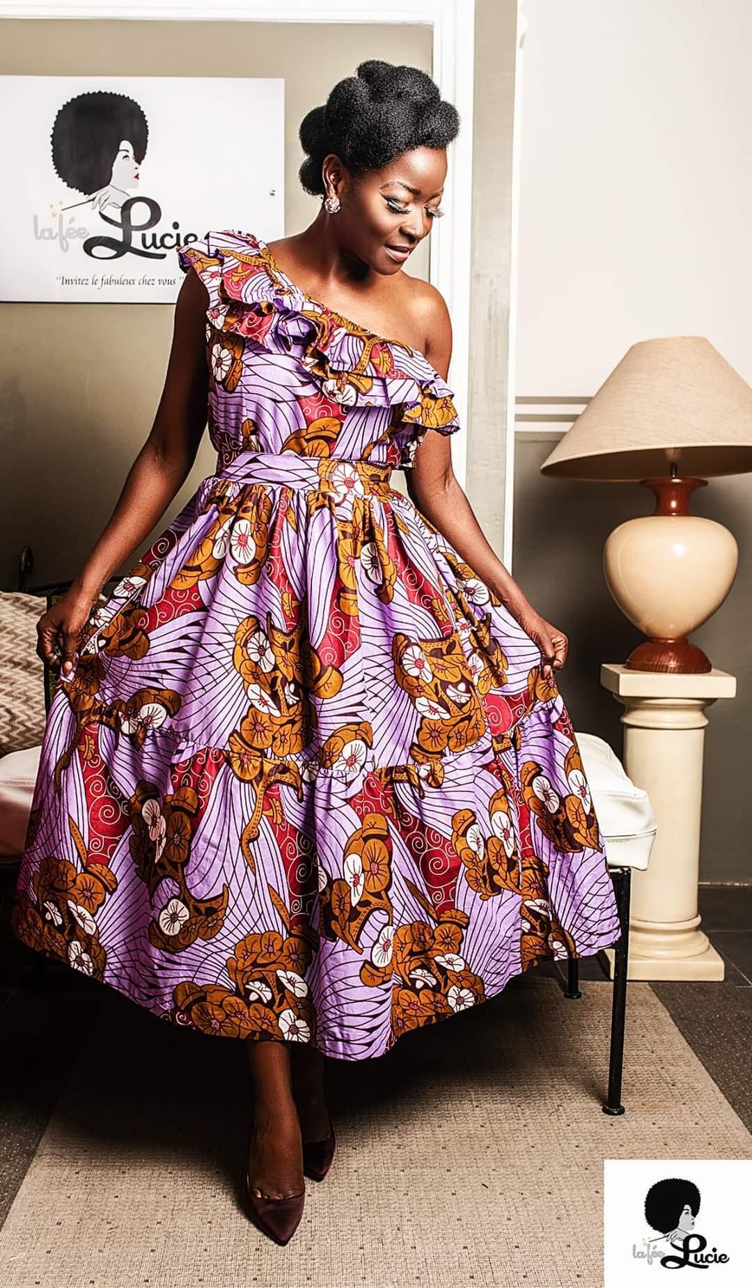 Sexy colourful Ankara dresses