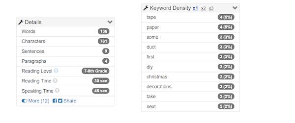 Screenshot of Word Counter