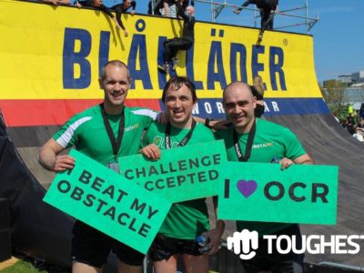 Gareth Adam & Andrew at the end of Toughest Race
