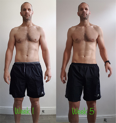 5 weeks low carb diet