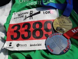 Severn Bridge Finishers Medal & Bib