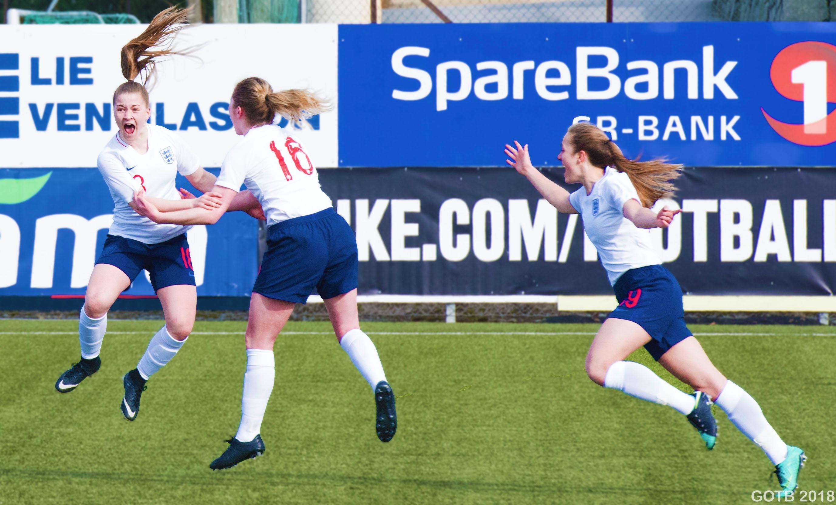 Jess Park scores for England U17s