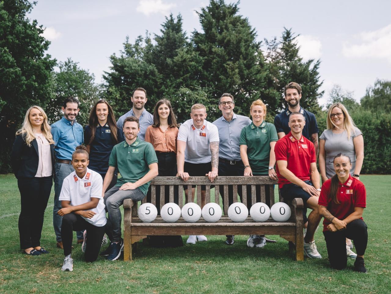 Jordan Pickford, Nikita Parris and other home nations football ambassadors launch McDonald's UK's new football sponsorship 3