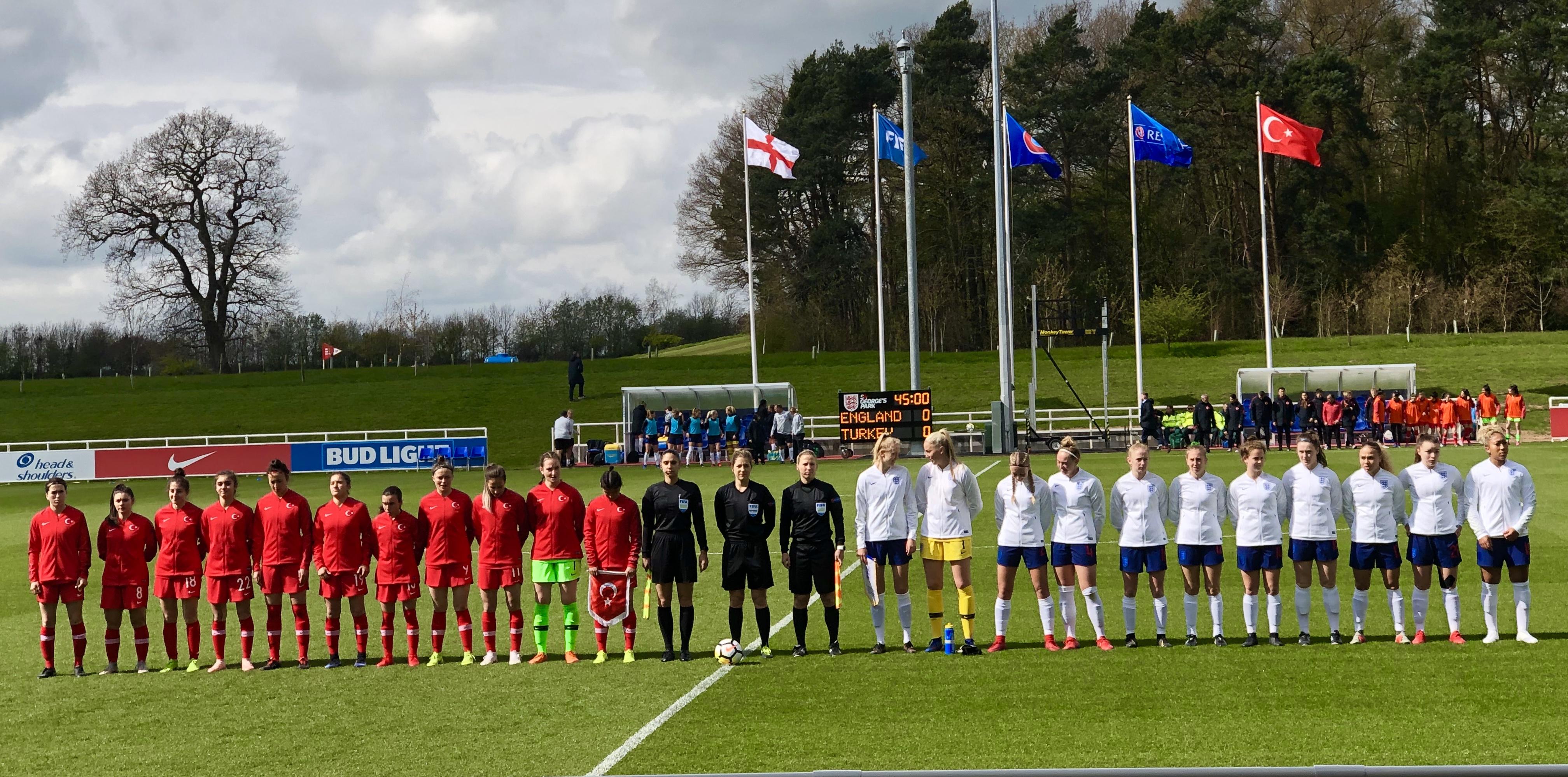 England U19s vs Turkey, 2019 U19 Elite Round