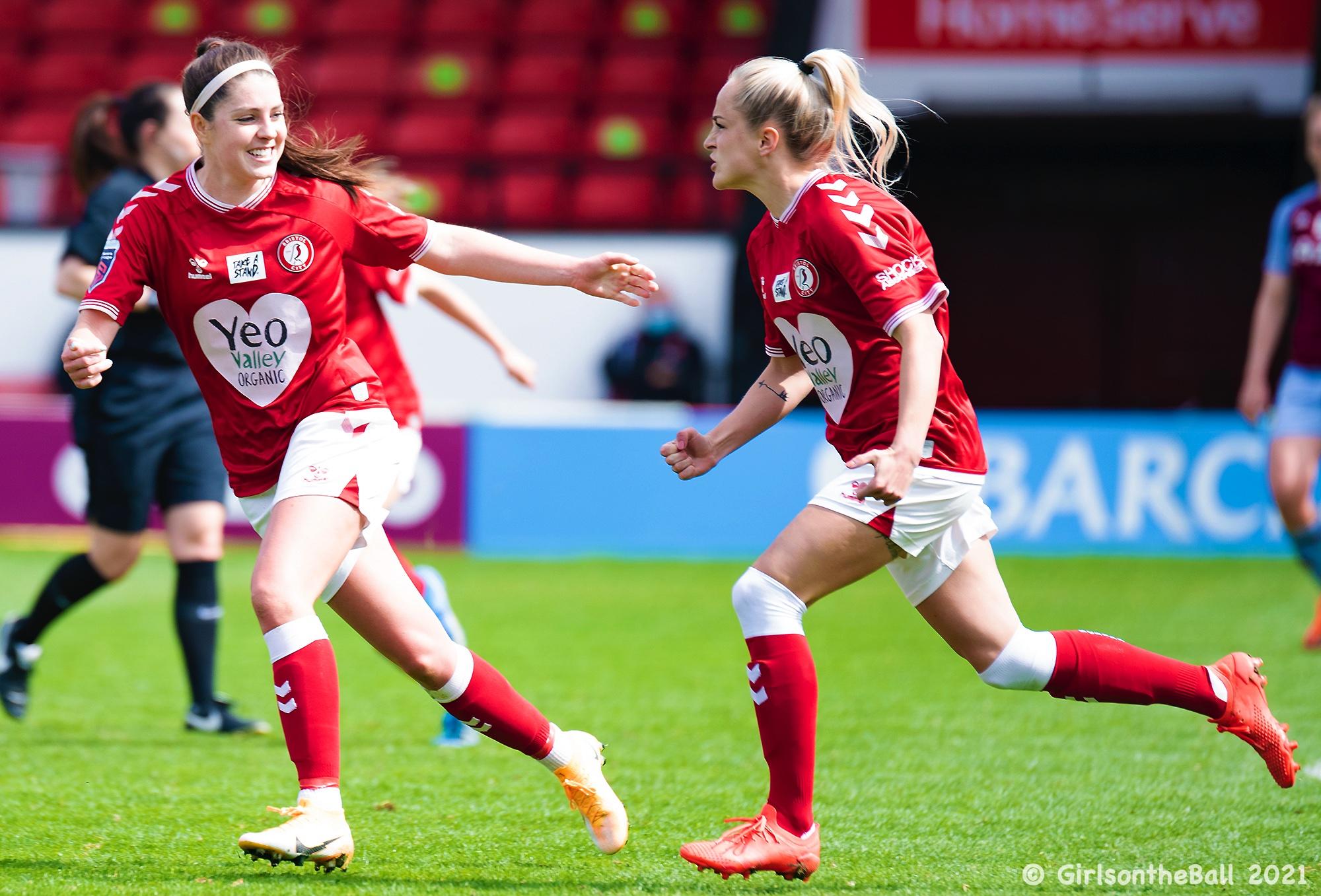 Faye Bryson & Carla Humphrey, Aston Villa v Bristol City, Barclays FAWSL