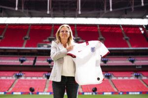 Sarina Wiegman at Wembley