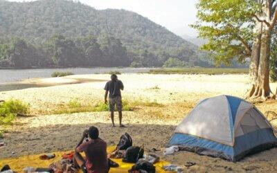 Camp at the banks of Kaveri