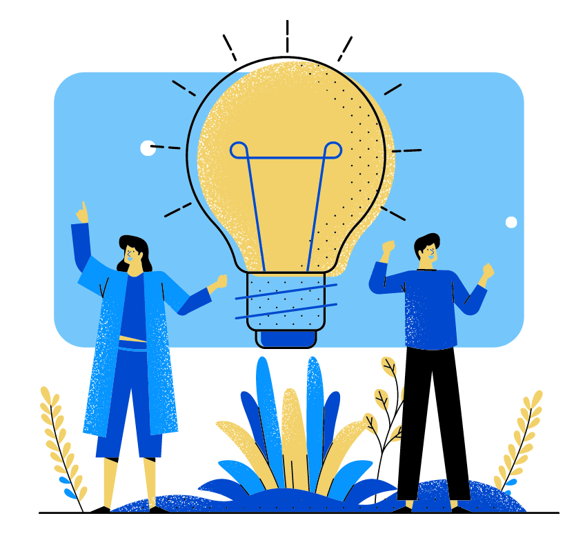 light bulb with people