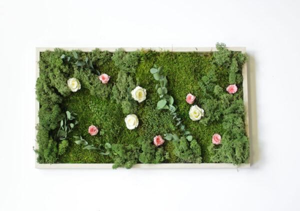 Cuadro natural rosas preservadas
