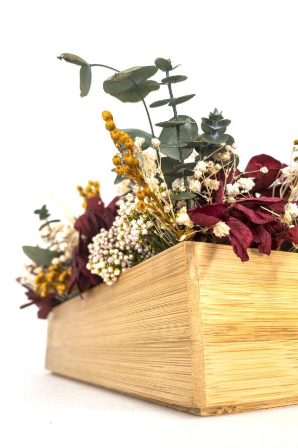 ntro de flores preservadas detalle