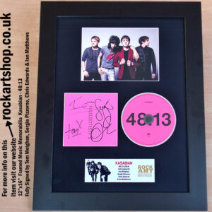 KASABIAN AUTOGRAPHED 48:13 FULLY SIGNED CD SERGIO PIZZORNO