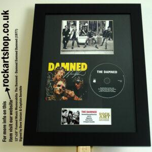 THE DAMNED DEBUT ALBUM SIGNED DAVE VANIAN + CAPTAIN SENSIBLE