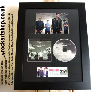 THE COURTEENERS FULLY SIGNED LIAM FRAY CONCRETE LOVE AUTOGRAPHED