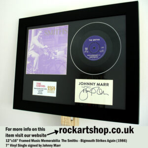 THE SMITHS BIGMOUTH STRIKES AGAIN VINYL SIGNED JOHNNY MARR