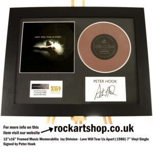 JOY DIVISION LOVE WILL TEAR US APART VINYL SIGNED BY PETER HOOK