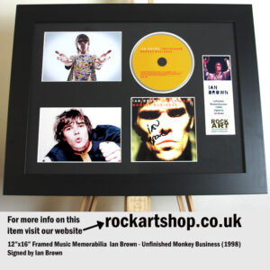 IAN BROWN SIGNED UNFINISHED MONKEY BUSINESS CD AUTOGRAPHED