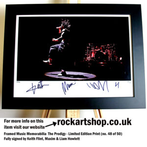 THE PRODIGY SIGNED KEITH FLINT LIAM HOWLETT MAXIM AUTOGRAPHED