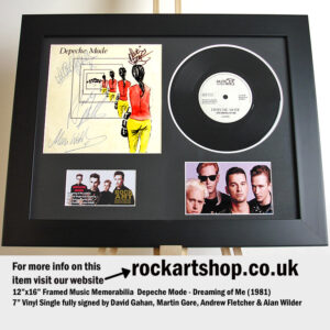 DEPECHE MODE DREAMING OF ME SIGNED DAVE GAHAN MARTIN ANDY ALAN