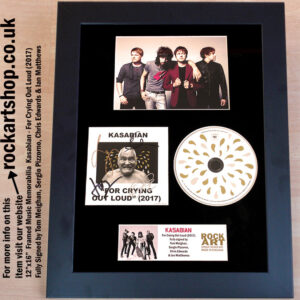 KASABIAN FOR CRYING OUT LOUD SIGNED TOM MEIGHAN SERGIO PIZZORNO
