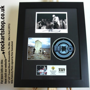 THE WHO WHO'S NEXT SIGNED BY PETE TOWNSHEND MUSIC MEMORABILIA