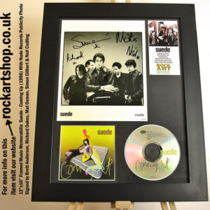 SUEDE COMING UP SIGNED BRETT ANDERSON RICHARD MAT SIMON NEIL