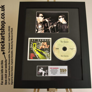 THE DAMNED SIGNED DAVE VANIAN CAPTAIN SENSIBLE AUTOGRAPHED