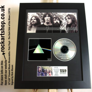 PINK FLOYD DARK SIDE OF THE MOON 20TH CD SIGNED BY NICK MASON