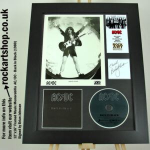 AC/DC SIGNED BRIAN JOHNSON BACK IN BLACK AUTOGRAPHED