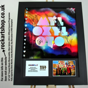 COLDPLAY MYLO XYLOTO SIGNED BY CHRIS MARTIN +JONNY+GUY +WILL