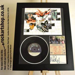 PINK FLOYD THE WALL VINYL NICK MASON SIGNED MUSIC MEMORABILIA
